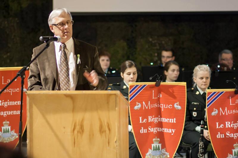 Michel Perron au Régiment du Saguenay